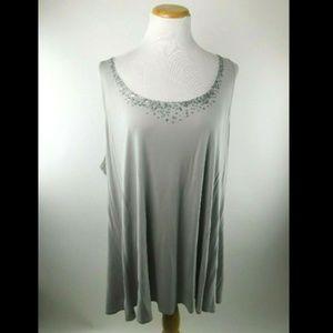 Eileen Fisher Woman Georgette Crepe Silk Sequin